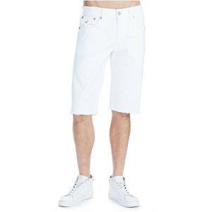 True Religion Men's Cut Off Stretch Denim Shorts